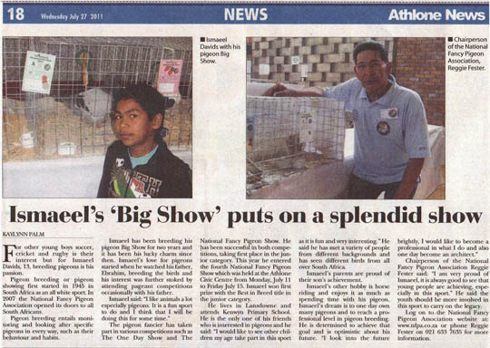 Athlone News article - july 2011 - 1